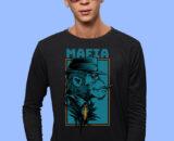 Black printed half sleeves tshirts for men on online
