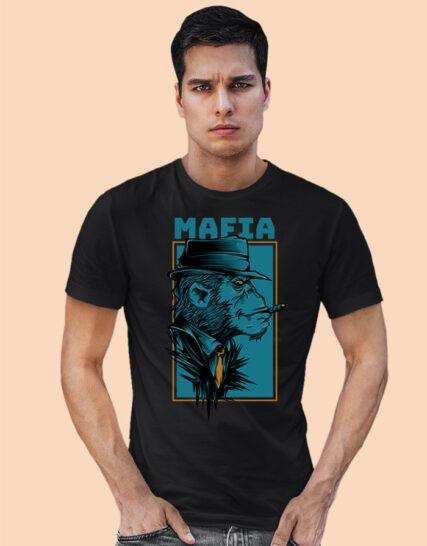 Black half sleeves tshirts for men
