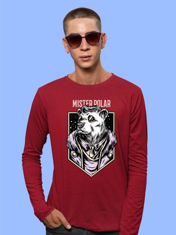 Mister Polor Black Full Sleeves Big Print T-shirt For Men 3
