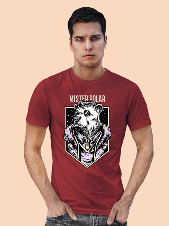 Mister Polor Black Half Sleeves Big Print T-shirt For Men 4